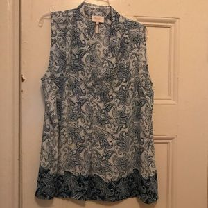 Laundry by Shelli Segal sleeveless paisley blouse